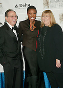 Hal David, Chairman/CEO Songwriters Hall Of Fame with Heather Headley and Linda Moran, Pres. Songwriters Hall Of Fame at the 33rd Annual Songwriters Hall Of Fame Awards induction ceremony at The Sheraton New York Hotel in New York City. June 13 2002. <br /> Photo: Evan Agostini/PictureGroup