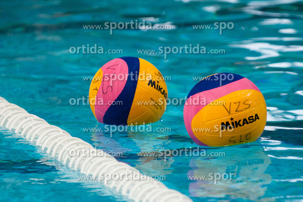 Balls at water polo match between National men teams of Slovenia and Germany in Qualifications for European Championships in Eindhoven 2012 on June 18, 2011 in Pokriti bazen, Kranj Slovenia. (Photo By Matic Klansek Velej / Sportida.com)