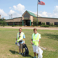 (Floyd Ingram / Buy at photos.chickasawjournal.com)<br /> Two members of the Franklin &quot;Green Team&quot; Omega Williams, on left, and Dinah King, were busy last week picking up litter on Franklin Drive as part of the company's effort to clean up their neighborhood.
