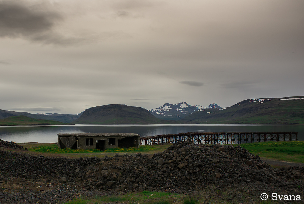 During World War II the British army built a military base in Hvalfj&ouml;r&eth;ur. This dock at Hv&iacute;tanes is now falling apart, in a way charming but on the other hand not. <br /> Location: Hvalfj&ouml;r&eth;ur, SW Iceland.