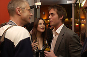 Stephen Daldry, Princess Tamara Czartorski Borbon, James Murray, The Shape of Things, first night party. Photographers Gallery, 17 May 2004. ONE TIME USE ONLY - DO NOT ARCHIVE  © Copyright Photograph by Dafydd Jones 66 Stockwell Park Rd. London SW9 0DA Tel 020 7733 0108 www.dafjones.com