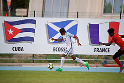 AUBAGNE, FRANCE - Monday, May 29, 2017: England's Tariq Uwakwe during the Toulon Tournament Group A match between England U18 and Angola U20 at the Stade de Lattre-de-Tassigny. (Pic by David Rawcliffe/Propaganda)