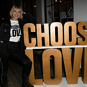 Daisy Lowe arrives at Choose Love shop launch at Foubert's Place, Carnaby on 22 November 2018, London, UK.