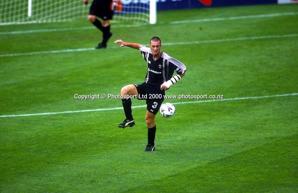 Ricki van Steeden in action for the Football Kingz against Adelaide in the Australian National Soccer League 99/00. Photo: Andrew Cornaga/Photosport.co.nz