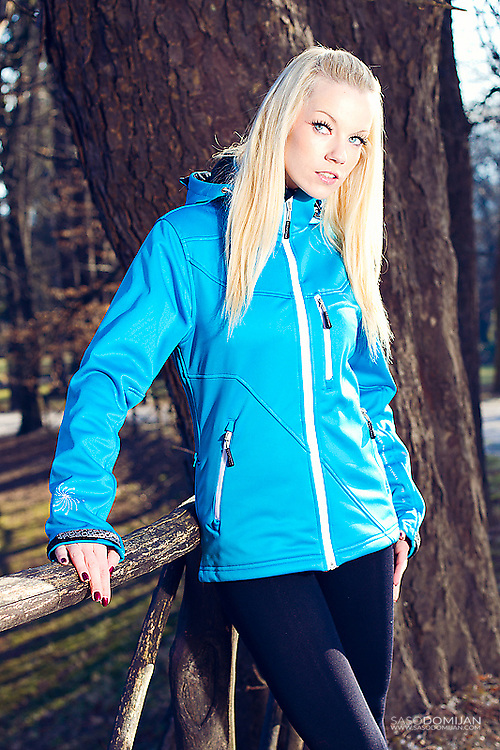 Ljubljana, 17.1.2012 - Outdoor shooting with Taya A. for Progress sportswear. Photo: Saso Domijan