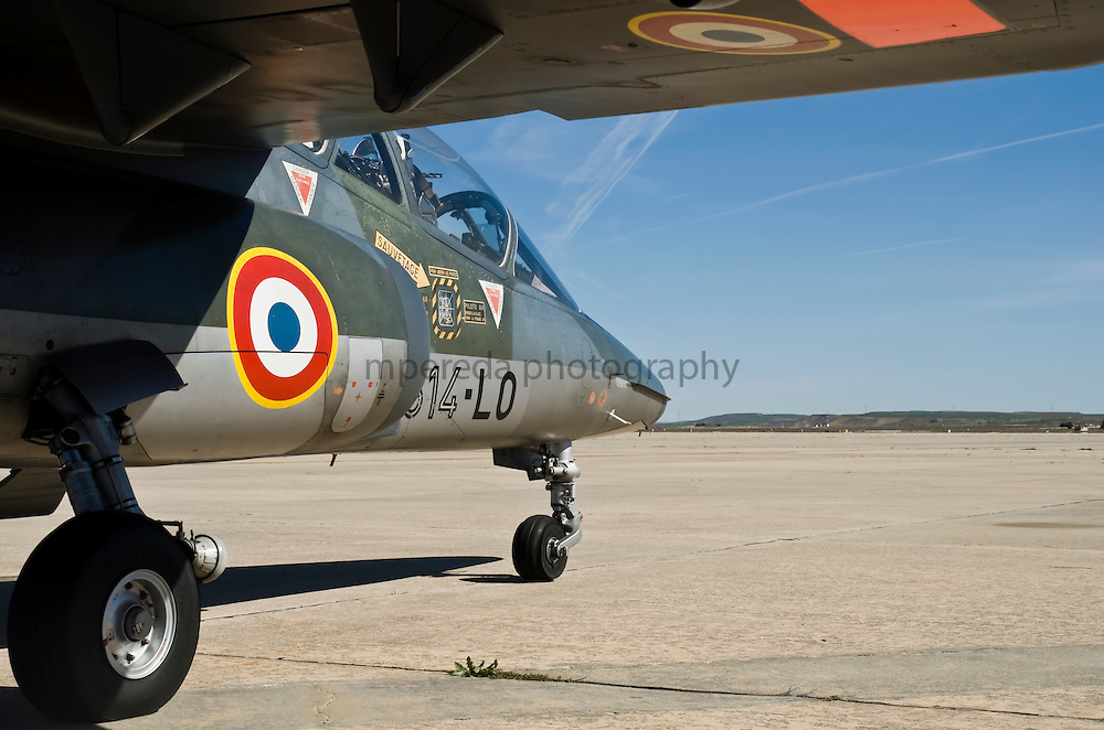 French Air Force Alpha Jet in Torrejón de Ardoz airport (Madrid, Spain)