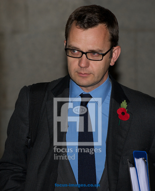 Picture by Alan Stanford/Focus Images Ltd +44 7915 056117<br /> 07/11/2013<br /> Andrew Coulson pictured following a day of the  phone hacking trial at Old Bailey, London.