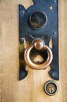 Brass Door Handle at Meiji Shrine