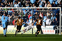 Photo: Pete Lorence.<br />Coventry City v Hull City. Coca Cola Championship. 03/03/2007.<br />Michael Doyle's penalty beats Boaz Myhill.