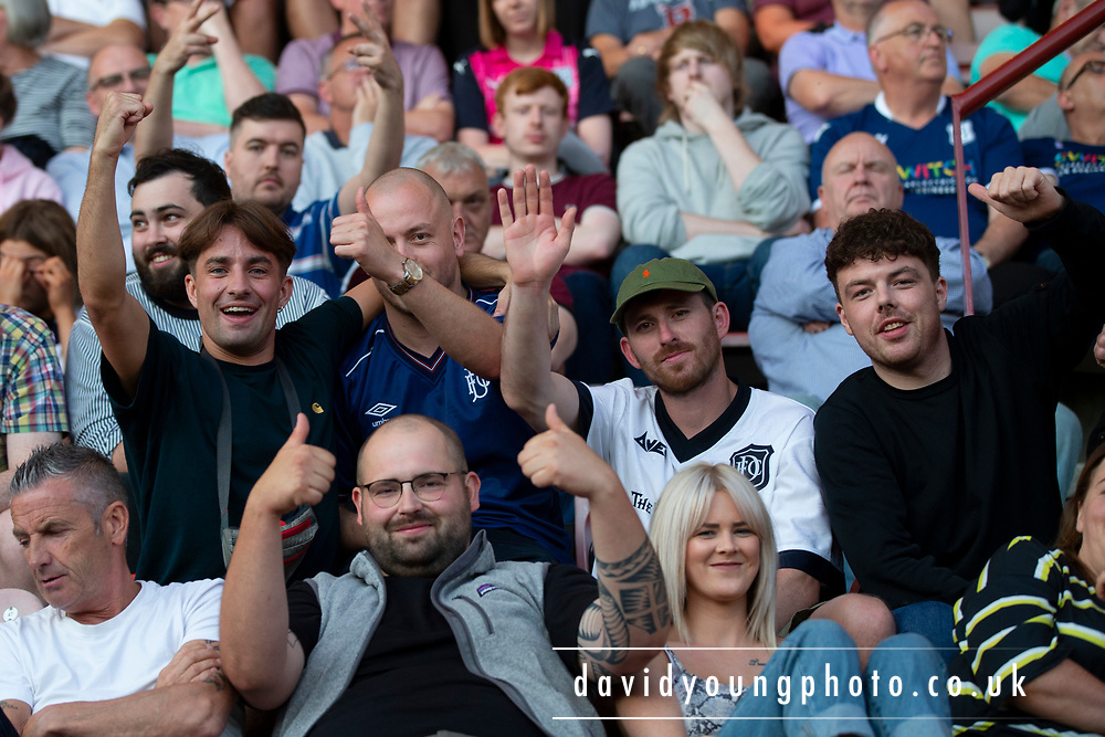 2nd Aug 2019, East End Park, Dunfermline, Fife, Scotland, Scottish Championship football, Dunfermline Athletic versus Dundee;  Dundee fans