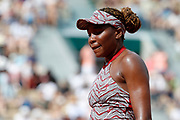 Venus William (USA) unsatisfaction during the Roland Garros French Tennis Open 2018, day 1, on May 27, 2018, at the Roland Garros Stadium in Paris, France - Photo Stephane Allaman / ProSportsImages / DPPI