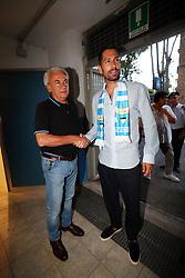 MARCO BORRIELLO CON WALTER MATTIOLI<br /> SPAL CALCIO PRESENTAZIONE MARCO BORRIELLO