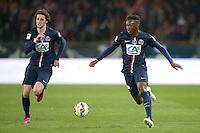 Adrien Rabiot / Jean Christophe Bahebeck - 08.04.2015 - Paris Saint Germain / Saint Etienne - 1/2Finale Coupe de France<br />Photo : Andre Ferreira / Icon Sport