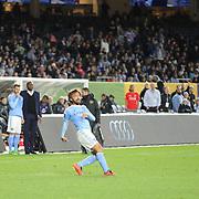Andrea Pirlo, NYCFC, in action during the New York City FC Vs Orlando City, MSL regular season football match at Yankee Stadium, The Bronx, New York,  USA. 18th March 2016. Photo Tim Clayton