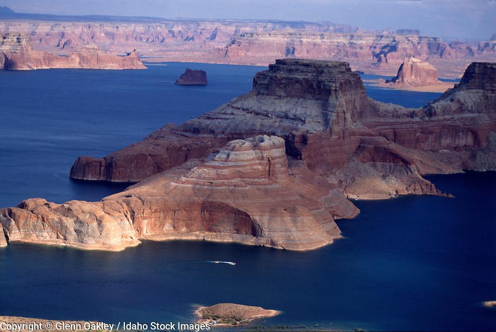Aerial views of Lake Powell on the Utah/Arizona border