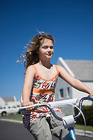 South Africa Cape Town girl riding bicycle