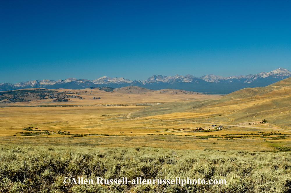 Big Hole Valley & Pass, Hamilton Ranch, Valley of 10,000 Haystacks, SW Montana, Bitterroot Mountains