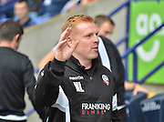neil lennon greets the fans during the Sky Bet Championship match between Bolton Wanderers and Nottingham Forest at the Macron Stadium, Bolton, England on 22 August 2015. Photo by Mark Pollitt.