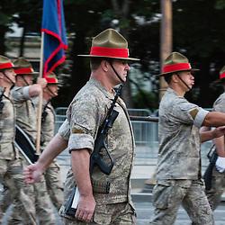 Répétitions matinales du défilé à pied le 12 juillet sur les Champs Elysées.<br /> juillet 2016 / Paris (75) / FRANCE<br /> Cliquez ci-dessous pour voir le reportage complet en accès réservé<br /> http://sandrachenugodefroy.photoshelter.com/gallery/2016-07-Repetitions-du-defile-du-14-juillet-Complet/G0000Av80JipVmfE/C0000yuz5WpdBLSQ