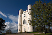"Haldon Belvedere, Exeter, Devon. Built in 1788 by celebrated English cleric and politician Sir Robert Palk, the striking triangular structure of Haldon Belvedere, whose three points are marked by identical turret-topped towers, was visited by King George III, albeit late in his reign when he was suffering from an incurable mental illness. The construction of a local carriageway, simply called ""King's Road,"" predates that visit, indicating that Palk probably had such a brush with royalty in mind. The building is today used as accommodation and wedding venue."