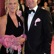 NLD/Amsterdam/20080929 - Pink Ribbon gala 2008, Frits Sissing en partner Willemijn