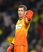 Michael McGovern (33) of Norwich City during the EFL Cup 4th round match between Bournemouth and Norwich City at the Vitality Stadium, Bournemouth, England on 30 October 2018.