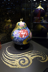 TAIPEI, Sept. 3, 2016 (Xinhua) -- Photo taken on Sept. 3, 2016 shows a ceramic craft displayed at a porcelain show in Taipei, southeast China's Taiwan. A porcelain show lasting from Sept. 3 to Nov. 27 kicked off here Saturday. (Xinhua/Song Zhenping)(wjq) (Credit Image: © Song Zhenping/Xinhua via ZUMA Wire)