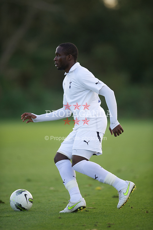 LONDON, ENGLAND - Wednesday, October 19, 2011: Tottenham Hotspur's Kudos Oyenunga in action against PSV Eindhoven during the NextGen Series Group 4 match at the Spurs Lodge. (Pic by David Rawcliffe/Propaganda)