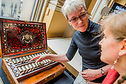 Royal Academicians Rebecca Slater, Anne Desmet examine Queen Victoria's paintbox. Achitect, Sir David Chipperfield unveils plans for a major redevelopment of the Royal Academy of Arts which will be completed in time for its 250th anniversary in 2018. The project is the most important development of the Royal Academy in its history.  The development will allow key works from the Royal Academy's Collection to be brought out of store and go on view to the public. These include Queen Victoria's paintbox, Turner's travelling watercolour box, Joshua Reynolds' diaries, a rarely displayed Pissarro drawing, and letters between artists such as Thomas Gainsborough to Sir Joshua Reynolds. 11 May 2015.