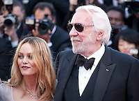Actress and Singer Vanessa Paradis and actor Donald Sutherland at the gala screening for the film The Last Face at the 69th Cannes Film Festival, Friday 20th May 2016, Cannes, France. Photography: Doreen Kennedy