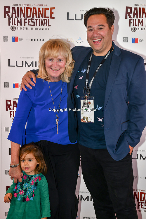 Richard Raymond and his mum attend 'Souls of Totality' film at Raindance Film Festival 2018, London, UK. 30 September 2018.