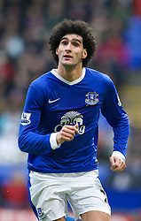 BOLTON, ENGLAND - Saturday, January 26, 2013: Everton's Marouane Fellaini in action against Bolton Wanderers during the FA Cup 4th Round match at the Reebok Stadium. (Pic by David Rawcliffe/Propaganda)