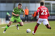 Forest Green Rovers Kevin Dawson(18) runs at Walsall's Wes McDonald(25) during the EFL Sky Bet League 2 match between Forest Green Rovers and Walsall at the New Lawn, Forest Green, United Kingdom on 8 February 2020.