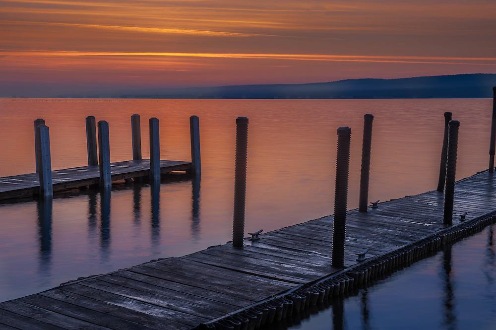 This was taken in Munising Michigan at Sunrise looking onto Lake Superio