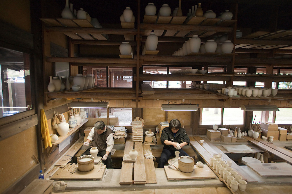 Kakiemon kiln (352 Nanzan Tei, Arita-Cho; +81-955-43-2267), one of the area's oldest, is the jewel of the town's porcelain past.  Here, handmade pieces with a milk-white foundation called nigoshide are produced and sold. A glimpse into their gallery reveals Europe's passion for this traditional work,..on the  grounds of the  Kakiemon kiln