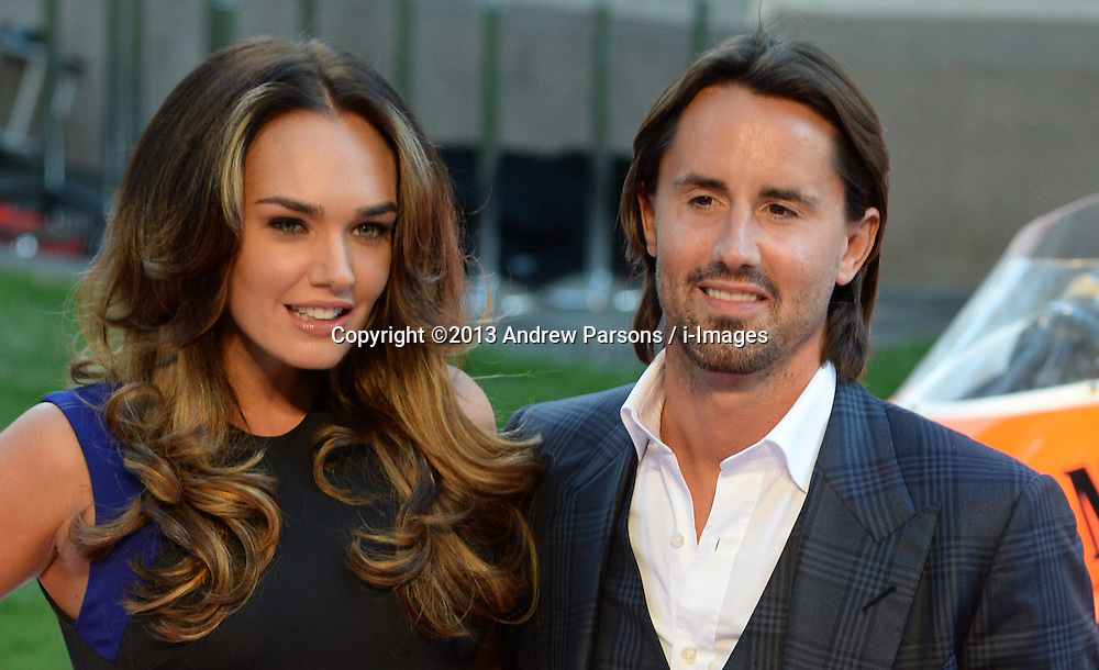 Rush - UK film premiere. <br /> Tamara Ecclestone (L) and Jay Rutland during the 'Rush' - UK film premiere, Odeon, London, United Kingdom. Monday, 2nd September 2013. Picture by Andrew Parsons / i-Images