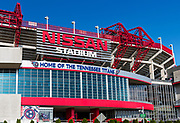 Nissan Stadium, home of the Tennessee Titans, Nashville, Tennessee, USA.