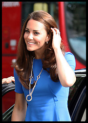 The Duchess of Cambridge arriving at the Road to 2012 : Aiming High exhibition at the National Portrait Gallery in London, Thursday,19th July 2012. Photo by: Stephen Lock / i-Images