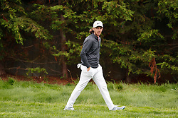June 12, 2019 - Pebble Beach, CA, U.S. - PEBBLE BEACH, CA - JUNE 12: PGA golfer Tommy Fleetwood walks the 17th hole during a practice round for the 2019 US Open on June 12, 2019, at Pebble Beach Golf Links in Pebble Beach, CA. (Photo by Brian Spurlock/Icon Sportswire) (Credit Image: © Brian Spurlock/Icon SMI via ZUMA Press)