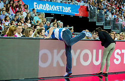 Billboard problems during basketball match between Netherlands and Croatia at Day 5 in Group C of FIBA Europe Eurobasket 2015, on September 9, 2015, in Arena Zagreb, Croatia. Photo by Vid Ponikvar / Sportida