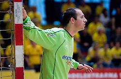Grega Karpan at handball match of MIK 1st Men league between RD Slovan and RK Gorenje Velenje, on May 16, 2009, in Arena Kodeljevo, Ljubljana, Slovenia. Gorenje won 27:26. (Photo by Vid Ponikvar / Sportida)