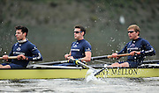 LONDON, ENGLAND - Thursday  13/12/2012 : Oxford University crew, Hurricane. background. [L] Dr Alex WOODS, Constantine LOULOUDIS and Karl HUDSPITH , racing in the annual Varsity trial 8's for The BNY Melon University Boat Race over the Championship Course [Putney to Mortlake]. The River Thames, England. (Mandatory Credit/ Peter  Spurrier/Intersport Images)