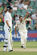 Wayne Parnell appeals for the wicket of Andrew Strauss as Kevin Pietersen looks on during day 3 of the 4th Castle Test between South Africa and England held at The Bidvest Wanderers Stadium in Johannesburg, South Africa on the 16 January 2010.Photo by:  Ron Gaunt/SPORTZPICS