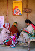 Women at Family Planning birth control clinic in Agra, India