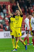 Scott Fraser of Burton Albion celebrates his team's victory over Sunderland FC after the EFL Sky Bet League 1 match between Sunderland and Burton Albion at the Stadium Of Light, Sunderland, England on 26 November 2019.