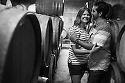 Kristin and Robert eat, drink, and relax during their Day In The Life Engagement Session at Hallcrest Vineyards in Felton, California, on July 23, 2014. (Stan Olszewski/SOSKIphoto)