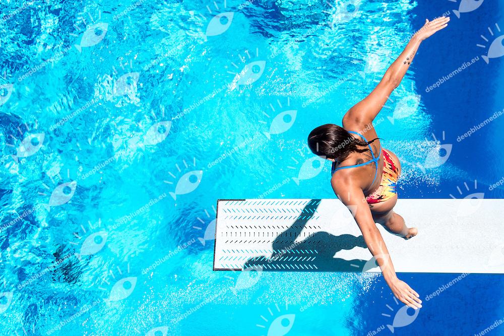 WARE PamelaCANCanada<br /> 3m springboard trampolino women<br /> Stadio del Nuoto, Roma<br /> FIN 2016 Campionati Italiani Open Assoluti Tuffi<br /> <br /> day 02  21-06-2016<br /> Photo Giorgio Scala/Deepbluemedia/Insidefoto
