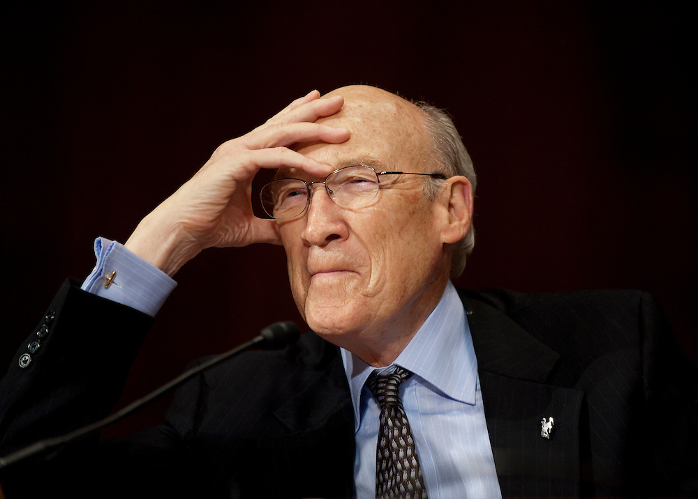 "Former Senator ALAN SIMPSON, (R-WY) testifies before a Senate Judiciary Subcommittee hearing on Campaign Finance Reform and ""The Fair Elections Now Act: A Comprehensive Response to Citizens United."""
