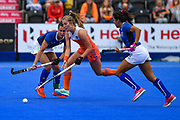 Xan de Waard of the Netherlands (7) during the Vitality Hockey Women's World Cup 2018 Pool A match between the Netherlands and Italy at the Lee Valley Hockey and Tennis Centre, QE Olympic Park, United Kingdom on 29 July 2018. Picture by Martin Cole.