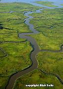 Aerial, Marshlands, Delaware Bay Estuary. Cumberland Co., New Jersey